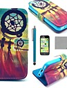 COCO FUN® Chinese knot Pattern PU Leather Full Body Case with Screen Protector for iPhone 5C