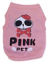Cat / Dog Costume / Shirt / T-Shirt Pink Spring/Fall Skulls / Hearts Cosplay / Halloween