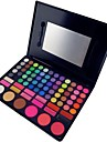 78 Colors 3in1 Professional 6 Blusher 60 Eyeshadow 12 Lipstick Makeup Cosmetic Palette with Mirror&2 Sponge Applicator