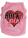 Cat / Dog Shirt / T-Shirt Pink Dog Clothes Spring/Fall Hearts / Letter & Number