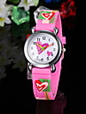 Children\'s Watch Heart Pattern Pink Silicone Strap