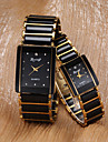 Women's Watch Rectangle Dial Alloy Band One Pair Cool Watches Unique Watches