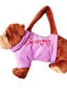 Bulldog Design Plush Toys Soft Hand Bag