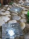 caminho solar, cubo de tijolos de gelo cristal de luz da lampada do jardim