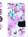 motif floral cuir PU couverture de tout le corps avec une carte solt grotte pour samsung galaxy grande néo i9060 (de couleurs assorties)