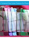 couleurs avant en verre trempé protecteur d'écran avec chiffon microfibre pour iphone 5/5 s / 5c - (couleurs assorties)