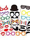 31 pcs papel cartao foto cabine aderecos festa divertida favor (oculos& chapeu& bigode& chapeu)