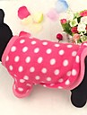 Dog Coat / Clothes/Clothing Red Winter Polka Dots / Hearts Cosplay