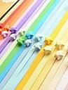 2 х 90 шт флуоресцентный цвет счастливая звезда оригами материалы (Random Color)