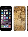 SKINAT 3M soft skin sticker(hide logo) back decals sticker set ancient map mobile phone stickers for iPhone 6 plus