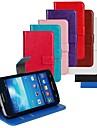 용 삼성 갤럭시 케이스 카드 홀더 / 스탠드 / 플립 케이스 풀 바디 케이스 단색 인조 가죽 Samsung Express 2
