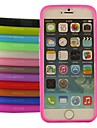 caso de geleia de silicone para iphone 6s 6 mais