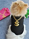 Cat / Dog Shirt / T-Shirt Black / Pink Dog Clothes Summer Wedding / Cosplay