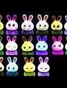 coway espressione creativa di coniglio colorato luce notturna led (colori assortiti)