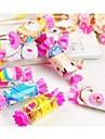 toalla creativa fibra forma de regalo de cumpleanos de caramelo (color al azar)