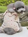 Собаки Костюмы Толстовки Комбинезоны Розовый Одежда для собак Зима Весна/осень Животный принт Милые Косплей