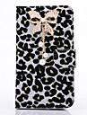 Para Samsung Galaxy Note Com Strass Capinha Corpo Inteiro Capinha Estampa de Leopardo Couro PU Samsung Note 3