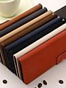 Для Кейс для iPhone 6 / Кейс для iPhone 6 Plus Бумажник для карт / со стендом Кейс для Чехол Кейс для Один цвет Твердый Искусственная кожа