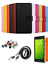 Ultra Slim Solid Genuine Leather Case with Film,Data Line,Dust Plug and Stylus for Nokia Lumia 930 (Assorted Colors)