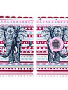 folk style og elefant moenster 360 graders rotasjon PU laer full body sak med stativ for ipad 2/3/4