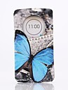 Blue Butterly Pattern PU Leather Case with Screen Protector,Stand and Dust Plug for LG G3