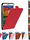 For Samsung Galaxy Note Flip Case Full Body Case Solid Color PU Leather Samsung Note 3