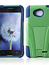Defender Series Silicone and PC Hard Case with T Stand for LG L70