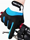 WEST BIKING® Full Finger Sports Mountain Bike Mittens Anti-skidding Windproof Warm Winter Cycling Bicycle Gloves For Men