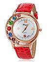 Women's Quartz Diamante Case PU Band Analog Fashion Watch (Assorted Colors) Cool Watches Unique Watches