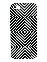 preto&caso duro teste padrão abstrato branco para 4/4s iphone