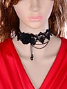 Jewelry Collar Necklaces Wedding / Party / Daily / Casual Alloy / Lace / Acrylic / Copper Women Black Wedding Gifts