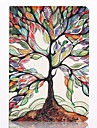 아이 패드 미니 1/2/3에 대한 화면 보호기 및 스타일러스와 여러 가지 빛깔의 나무 패턴 PU 가죽 케이스