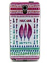 Feather  Pattern TPU Soft Cover for Galaxy Note 3 Lite