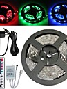 Waterproof 5M 150X5050 SMD RGB LED Strip Light and 44Key Remote Controller and 3A EU Power Supply (AC110-240V)