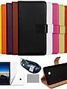 couleur solide etui en cuir veritable de luxe de coco avec le film, cable et stylet pour Nokia Lumia 930 (couleurs assorties)