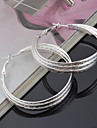 Titanium Steel Earring Hoop Earrings Wedding/Party 2pcs