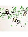 настенные наклейки мультфильм обезьяна украшения дома jiubai ™ настенные наклейки