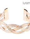 плетеные сплав браслет манжеты женщин (ассорти цветов)