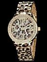 Women\'s Leopard Print Pattern Diamond Case Gold Alloy Band Quartz Wrist Watch (Assorted Colors) Cool Watches Unique Watches