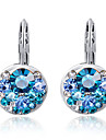 Earring Stud Earrings Jewelry Party / Daily / Casual Crystal / Alloy / Rhinestone Silver / Blue