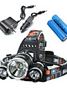 Lights Headlamps Bike Lights LED 5000 Lumens 4 Mode Cree XM-L T6 18650 Waterproof Rechargeable Impact ResistantCamping/Hiking/Caving