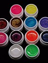 Cheapest 12PCS Mixs Pure Color UV Color Gel for Manicure Nail Tips