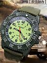 Men's Super Luminous Face Canvas Nylon Strap Quartz Sport Military Wrist Watch (Assorted Colors) Cool Watch Unique Watch