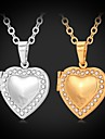 Feminino Gargantilhas Colares com Pendentes Medalhoes Colares Imitacao de Diamante Formato CircularStrass Pedaco de Platina Chapeado