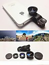 KLW 3 in 1 Wide Angle lens /Macro lens/180 Fish Eye Lens/ Kit Set for iPhone 5 /6 /iPad and  Others