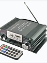 A-750 Hi-Fi Stereo Digital Amplifier with FM / SD / USB for Car / Motorcycle - Black