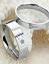 Key and Lock Love Tokens Never Part Titanium Steel Couples Ring Promis rings for couples