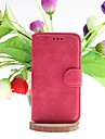 Dull Polish Genuine Leather Full Body Cases with Stand and Slot Card for Samsung Galaxy S4 I9500