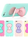 Bowknot Shape Silicon Rubber Case with Double Stents for iPhone 6 (Assorted Colors)