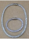 Conjunto de jóias Mulheres / Crianças Aniversário / Casamento / Noivado / Presente / Festa / Diário / Ocasião EspecialConjuntos de